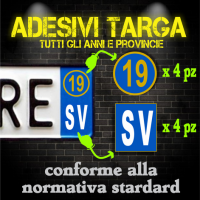 Adesivi Targa Provincia & Anno